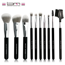 Brush Master Makeup Brush Set 10 Pieces Foundation Powder Blush Concealer Contour Brushes Soft Synthetic Hair