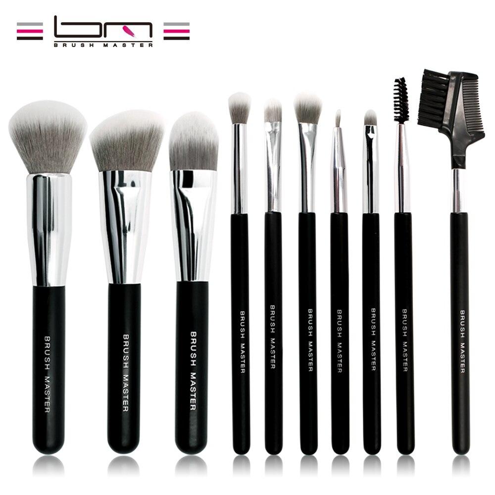 Brush Master font b Makeup b font Brush Set 10 Pieces Foundation Powder Blush Concealer Contour