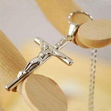 Trendy Vintage Sale Men And Women Classic Silver Jesus Cross Pendants Necklaces Accessories Boyfriend Girlfriend Gift CND235(China)