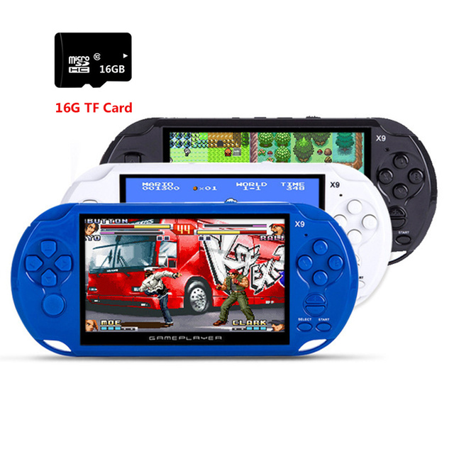 8GB Handheld Game Players 5 Inch Portable Game Console MP4 Player X9 Game Player with Camera TV Out TF Video with 10000 games