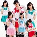 Японский Школьная форма-2015 Новый Sexy Sailor Костюмы 6 ЦВЕТА Аниме Девушки Одеваются Костюмы Женщины Косплей Костюм