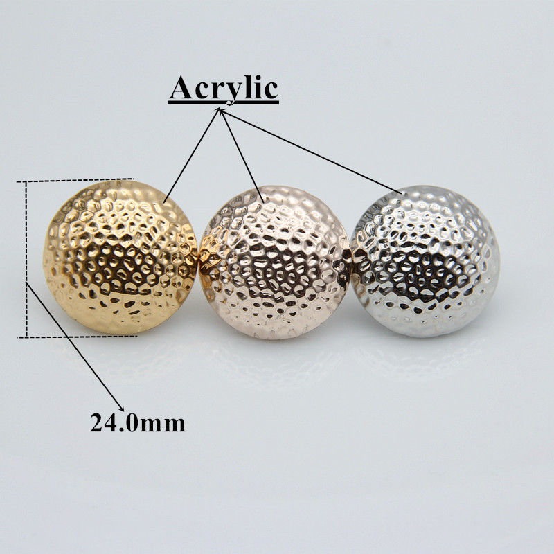 Stainless Steel Stud with White Acrylic 3 Color Flower Pearl Bead Ball Earrings pair