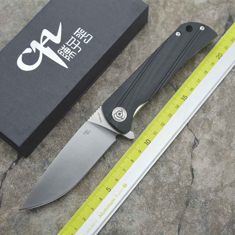 NEW CH CH3001 G10 Flipper folding knife D2 blade ball bearing G0 steel handle camping hunting