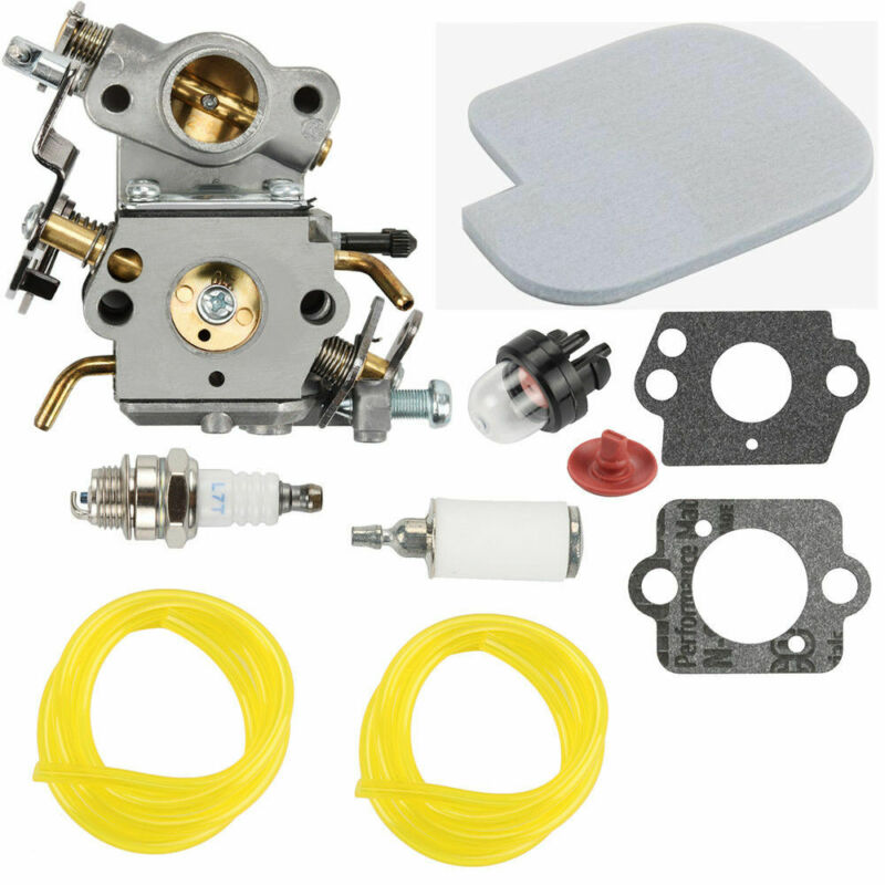 For Poulan P3314 P3416 Carburetor Kit P4018 PP3816 For Zama C1M-W26C Chainsaw Gasket Primer Bulb Fuel Hose Useful