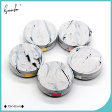 Lymouko New ABS Marble Limestone Microgroove with Mirror Contact Lens Case for Women Gift Kit Holder Lenses Box