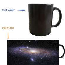 Outer Space Stars mugs morphing offee mug heat reveal Heat sensitive mugs magical art heat-reactived wine