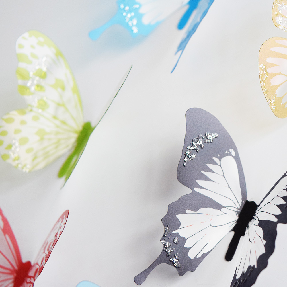 18pcs/lot 3d Effect Crystal Butterflies Wall Sticker Beautiful Butterfly for Kids Room Wall Decals Home Decoration On the Wall HTB1kXfqtMKTBuNkSne1q6yJoXXa3