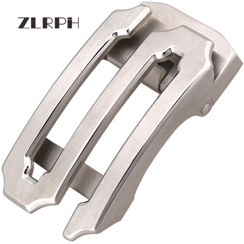 ZLRPH Stainless Steel Auto Buckle Business Belt Buckle Men's Waist Lead Letter S Auto Button
