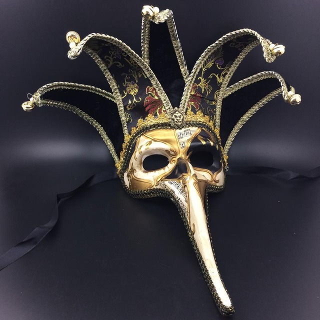 2018 Fashion Venetian Masks Halloween Party Half Face Masks For Christmas Masquerade Meet Cosplay Costume Props & 2018 Fashion Venetian Masks Halloween Party Half Face Masks For ...