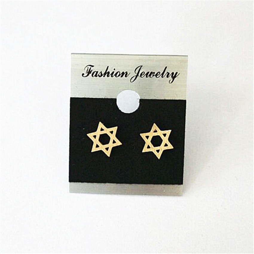 Brincos 2017 Jewish Gifts Stainless Steel Pink Gold Magen Star of - Fashion Jewelry - Photo 6