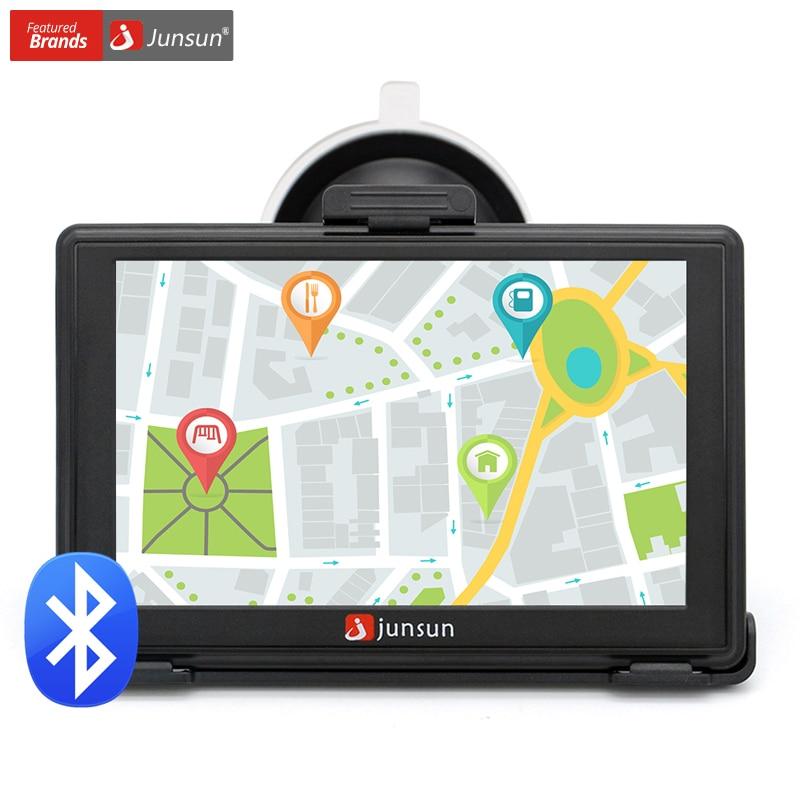 Junsun 5 inch HD Car GPS Navigation Bluetooth AVIN Capacitive screen FM 8GB/256MB Vehicle Truck GPS Europe Sat nav Lifetime Map aw715 7 0 inch resistive screen mt3351 128mb 4gb car gps navigation fm ebook multimedia bluetooth av europe map