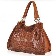 NEUE 2017 Luxus Marke Frauen Echtem Leder Handtaschen Designer Vintage Frauen Messenger Bags dame Crocodile weibliche Snakeskin X-4