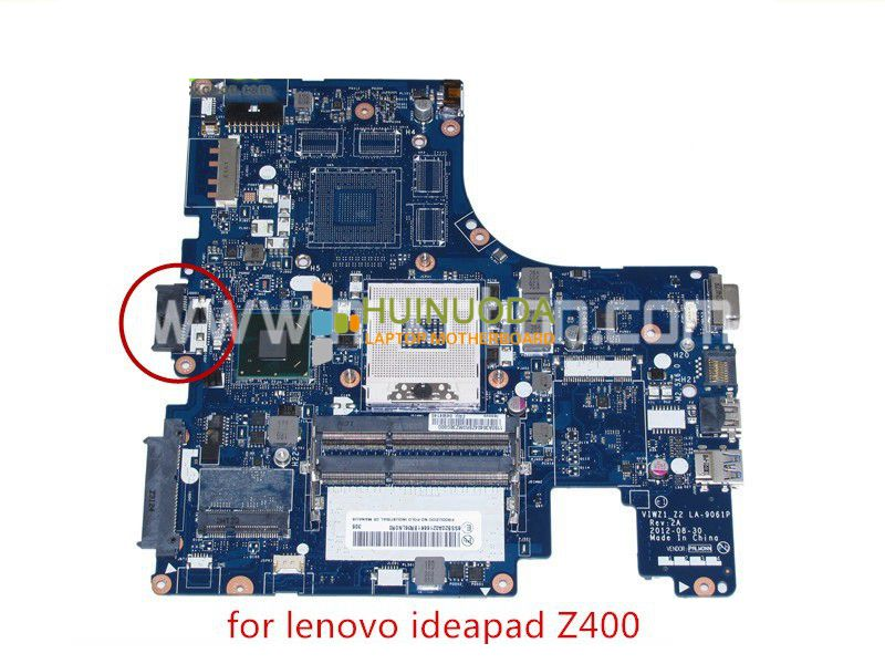 NOKOTION VIWZ1 Z2 LA-9061P Rev 2A Mainboard For lenovo Ideapad Z400 laptop motherboard FRU 04W4140 intel HD4000 HM76 14'' dali epicon 8 white gloss