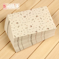 Vintage Leaves Pattern Paper Storage Envelope Simple Design 17 5 12 5cm Wholesale Business Kraft Envelope