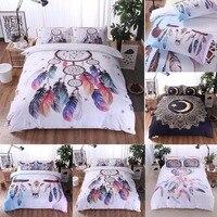 Nosii Tribal Boho Floral Quilt Duvet Cover Pillowcase Bedding Set King Queen Twin Size Choice