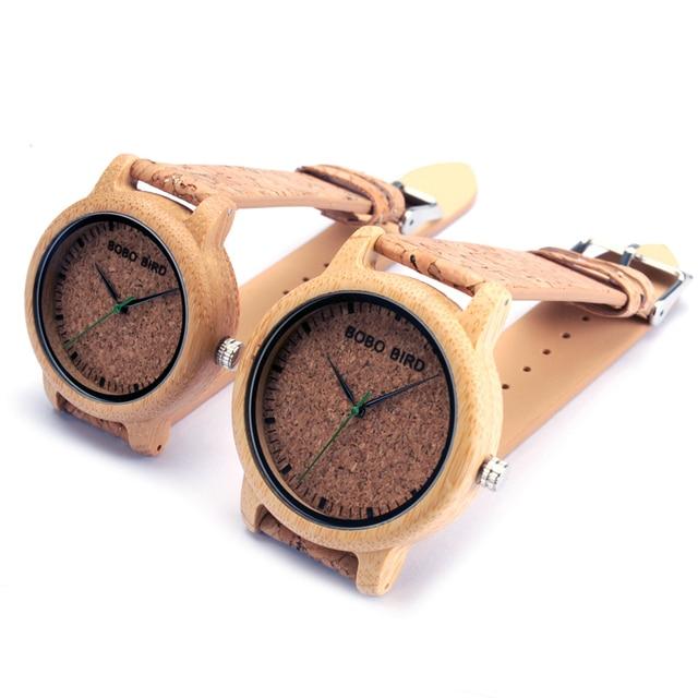 BOBO BIRD M12 Bamboo Wood Quartz Watch For Men And Women Wristwatches Top Brand