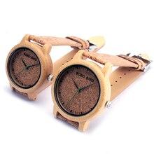 Бобо птица M12 древесины бамбука кварцевые часы для Для мужчин и Для женщин Наручные часы лучший бренд класса люкс с Японией двигаться Для мужчин t как подарок