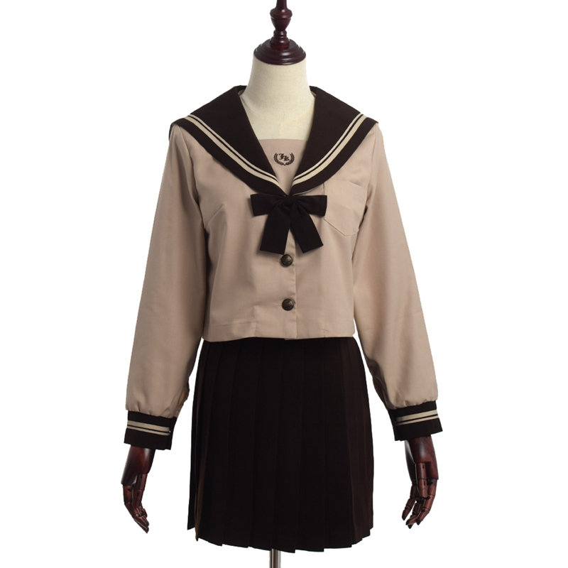 College Wind Japanese School Uniform Student Long Sleeve Sailor Pleated Skirt Suit