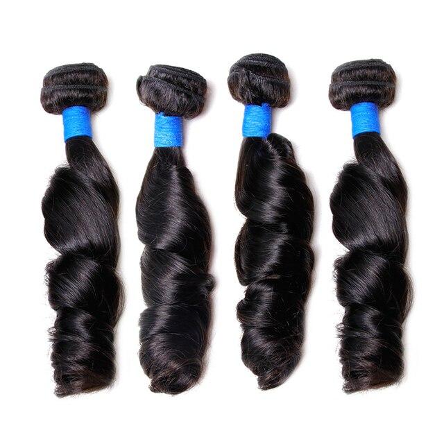 Clover Leaf Peruvian Loose Wave Hair Bundles 100 Human Hair