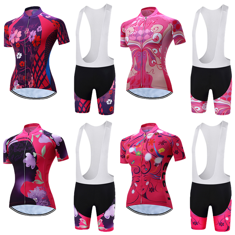 Women TELEYI 2018 China Team Cycling Clothing Sets Mtb Racing Bike Jersey Sports Wear Su ...