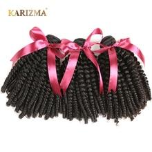 Karizma Brazilian Kinky Curly Hair Bundles Natural Color Hair 1PC 100% Human Hair Weaving Non Remy Hair Extensions Free Shipping