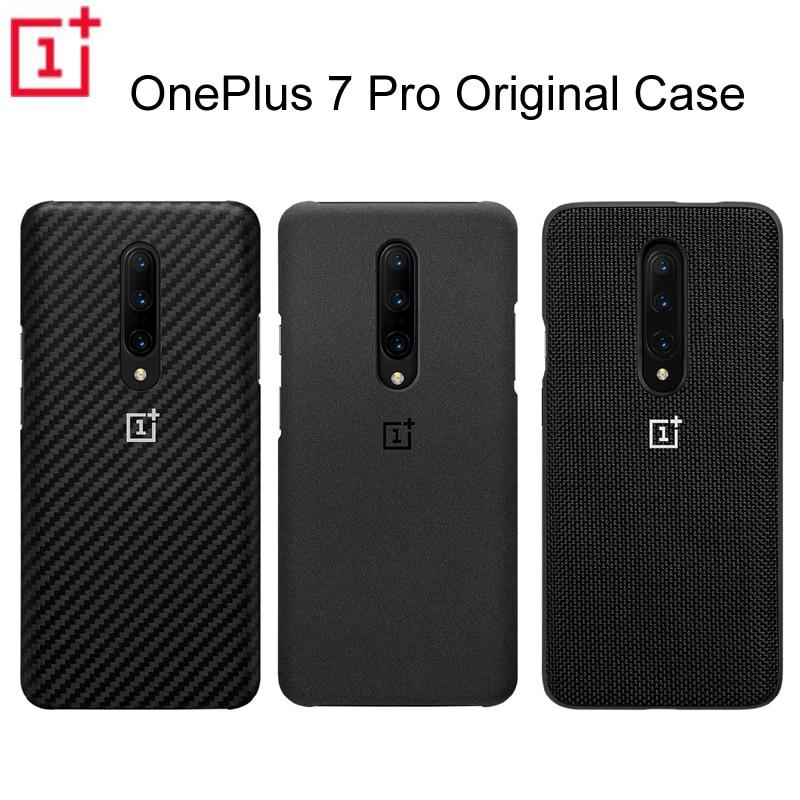 Étui de protection d'origine officiel OnePlus 7 Pro étui de protection Karbon en grès de carbone en Nylon coque de protection arrière pour OnePlus 7Pro