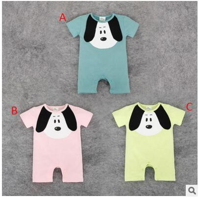 Summer Style Baby Short Sleeve Rompers Children Cartoon Dog Print Jumpsuits Casual Home Wear Nice Children Birthday Gift