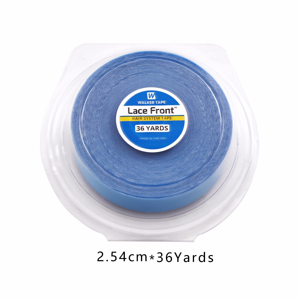 Hot Sales 1inch*36yard Lace Front Support Blue Double Sided Tape For Hair Extension/Toupee/Lace Wig/Pu Extension 3 4 inch 3yard white wig lace front support double sided adhesive tape for hair extension toupee lace wig pu extension