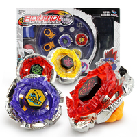 4pcs/set Spinning Top Beyblade With Launcher Arena Metal Fight Battle Fusion Classic Toys AA26 With Original Box For Kid Gift F4
