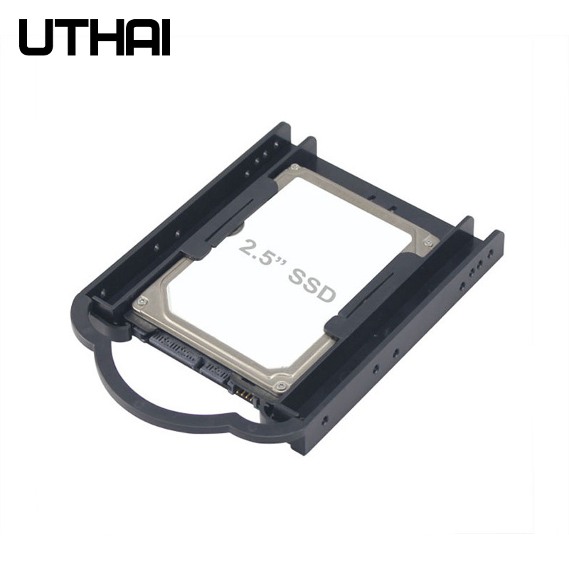 UTHAI G05 2.5 to <font><b>3.5</b></font> Inch Hard Drive Bracket <font><b>SSD</b></font> Free Screw Bracket Solid State Hard Drive HDD PC Converter <font><b>Adapter</b></font> image