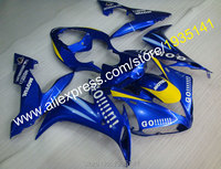 Hot Sales,Mostly blue Motorbike Fairing kit For Yamaha YZF R1 2004 2005 2006 YZF1000 R1 YZF R1 Go!!! cowling (Injection molding)