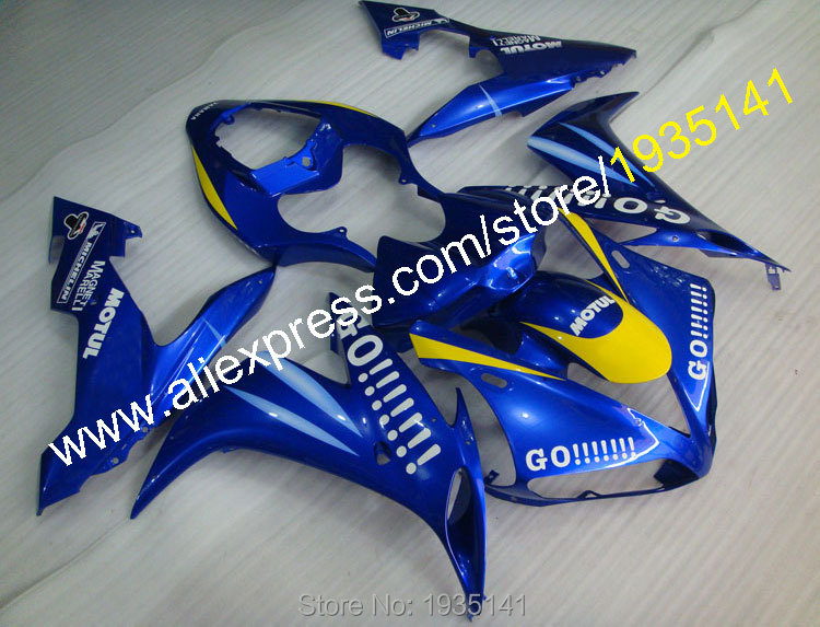 Hot Sales,Mostly blue Motorbike Fairing kit For Yamaha YZF R1 2004 2005 2006 YZF1000 R1 YZF-R1 Go!!! cowling (Injection molding)