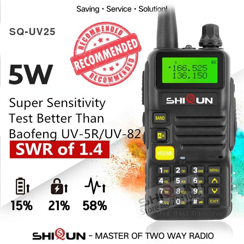 New Ham Radio for Hunting SQ UV25 Dual Band Long Range 5W VHF UHF Walkie Talkie