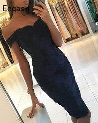 Коктейльное платье до колена с открытыми плечами и кружевной аппликацией; Винтажное вечернее платье с открытой спиной; Платье для коктейле...