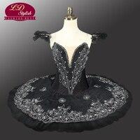 Черный Лебединое озеро Профессиональный Балетные костюмы пачка Для женщин Классическая Балетные костюмы пачка взрослых блин пачки блюдо с
