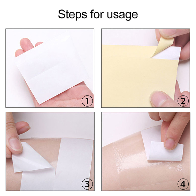 1 Roll Disposable Armpit Prevent Sweat Pads Transparent Underarm Dry Dry Antiperspirant Sticker Keep Dry Sticker TSLM2 3