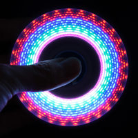 LED USB Rainbow Light Fidget Spinner Finger Plastic EDC Hand Spinner For Autism And ADHD Relief
