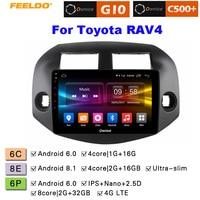 FEELDO 10.1 2.5D Nano IPS Screen Android 6.0 Octa Core/DDR3 2G/32G/4G LTE Car Media Player For RAV4 2007 2011 (Rav4, 2006)