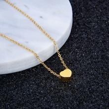 FINE4U N022 Heart Pendant Necklace
