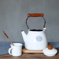 2L large capacity thickening enamel kettle coffee pots cold water teapot gas stove induction cooker