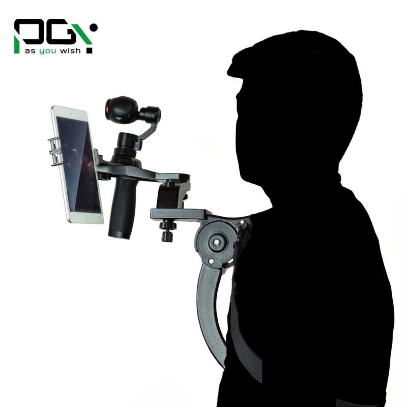 PGY DJI Osmo X5 X3 gimbal Accessories Shoulder Mount Holder Shooting Extendable arm Camera Hands free Shoulder camera support pgy dji phantom 4 3 professional accessories lens filter 6pcs bag nd4 nd8 mcuv cpl cover gimbal camera quadcopter drone part