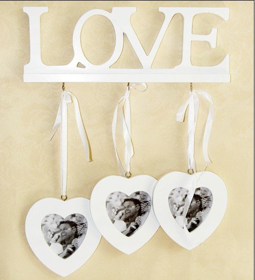 Free shipping retail and wholesale garden style LOVE wooden hanger with photo frame