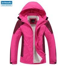 f8897ca041d Plus Size Women ski jacket women Mountain Thicken Plus fleece ski-wear  waterproof hiking outdoor