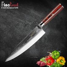 Chef Knife Damascus Knives  Japanese Kitchen VG10 67 Layer Stainless Steel Ultra Sharp pakka wood Handle