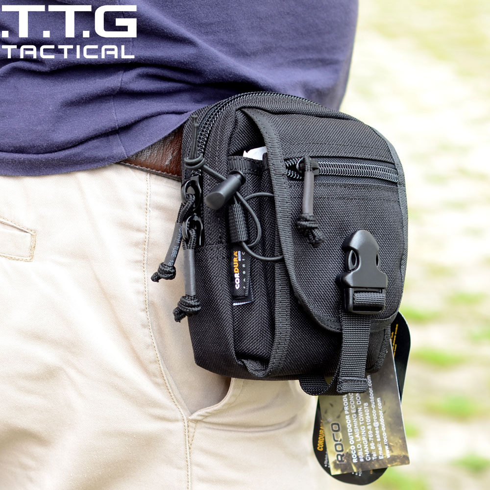 TTGTACTICAL Mens MOLLE Tactical Waist Bags Mini Duty Pouch Bag M1 Waistpack