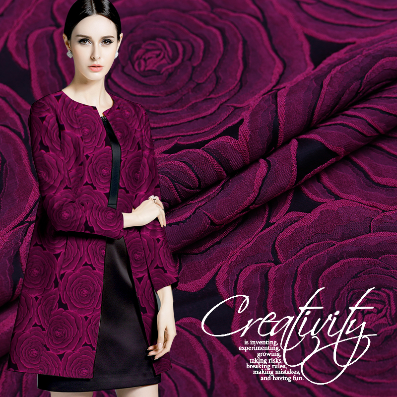 148 100cm1pc Good Brocade Fabric French Imported Silk Jacquard Brocade Fabric Sewing Women Suit Dress Material