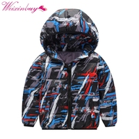 Down Jacket 2017 Autumn Winter Children Boys Girls Printed Thick Hooded Cool Coats Warm Kids Outerwear