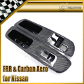New For Nissan 200SX S14 S14A Silvia Kouki Zenki Carbon Fiber Door Window Switch Panel Cover RHD Car Accessories Car Styling