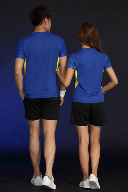 Free Printing Name Tennis wear shirt Women/Men's , sports Badminton shirts , Table Tennis tshirts, Quick dry sportswear 1835 3