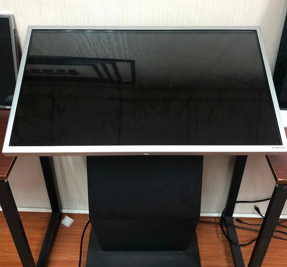 I3 + 2G + 128G tout-en-un pc 32 pouces IR tactile moniteur infrarouge écran tactile ordinateur moniteur mural vertical